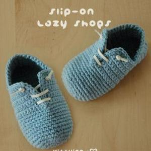 Slip-On Baby Lazy Shoes Crochet PAT..