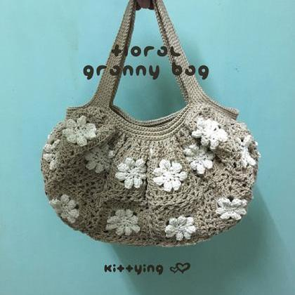 Crochet Pattern Floral Granny Bag C..