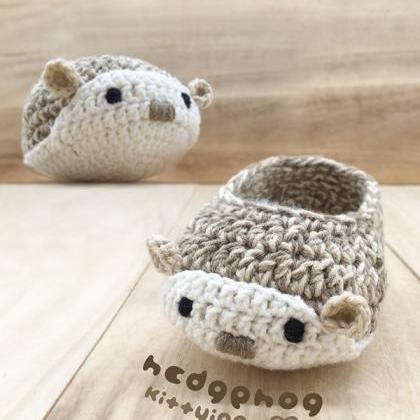 Hedgehog Booties Crochet Pattern - ..