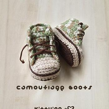 Crochet Pattern Baby Booties Camouf..