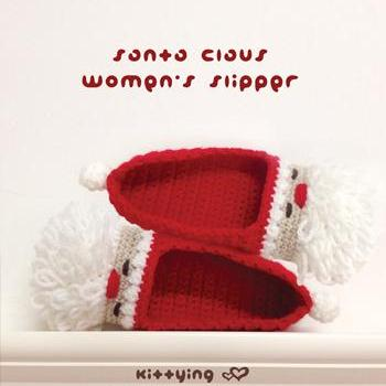 Santa Claus Women's Slipper Crochet..