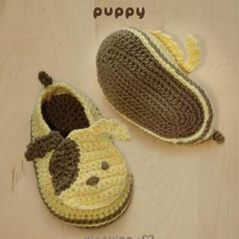 Crochet Pattern Puppy Baby Booties ..