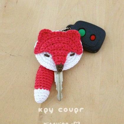 Fox Key Cover Crochet PATTERN - Cha..