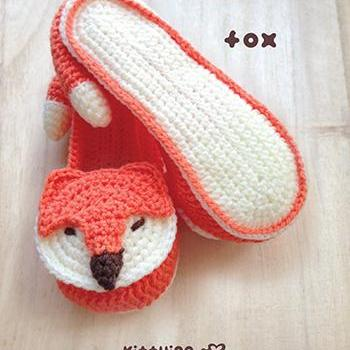 Crochet Pattern Fox Women House Sli..