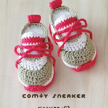 Crochet Baby Pattern Comfy Nike Baby Sneakers Crochet Baby Shoes