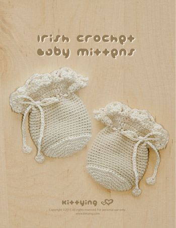 Crochet Pattern Irish Baby Mitten Preemie Gloves Newborn Hand