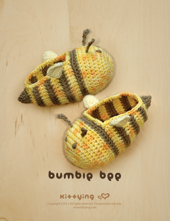 Crochet Pattern Bumble Bee Baby Booties Bee Preemie Socks Animal