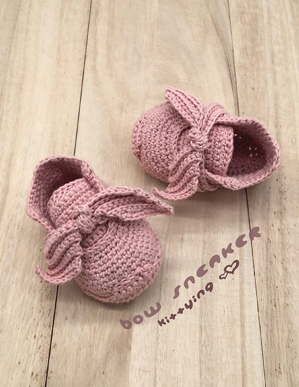 Crochet Newborn Sneakers Pattern Fenty Bow Sneakers Crochet Baby Shoes Crochet Booties Crochet Pattern Newborn Rihanna Sneakers Preemie Shoes Baby Bow Sneakers Crochet Pattern Preemie Sneakers Newborn Shoes Fenty Rihanna Bow Booties Crochet PATTERN - Chart & Written Pattern by Kittying Crochet Pattern