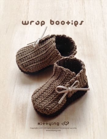 Crochet Pattern Wrap Baby Booties Preemie Boots Newborn Shoes