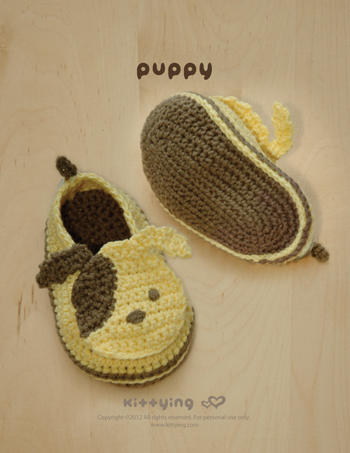 Crochet Pattern Puppy Baby Booties Puppies Preemie Socks Animal