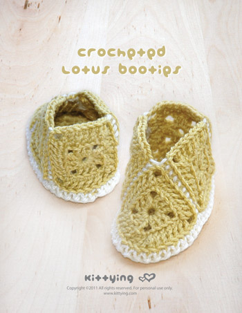 Vintage Mary Jane Baby Booties Crochet PATTERN, SYMBOL DIAGRAM (pdf) by kittying