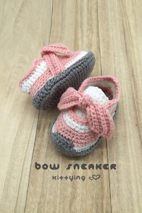 Bow Sneakers Crochet Shoes Pattern for Toddler Crochet Patterns Toddler Booties