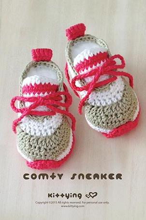 Crochet Baby Pattern Comfy Baby Sneakers Crochet Baby Shoes Crochet Booties Crochet Pattern Newborn Sneakers Newborn Shoes Baby Booties Crochet PATTERN - Chart & Written Pattern