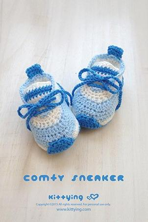 "Crochet Preemie Pattern Comfy Preemie Sneakers Crochet 18 inch Doll Shoes American Girl 18"" Doll Shoe Size Crochet Booties Crochet Pattern Newborn Shoes"