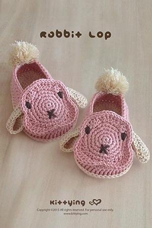 Crochet Baby Pattern Rabbit Baby Booties Baby Rabbit Shoes Crochet Bunny Sneakers Newborn Rabbit Shoes Lop Baby Booties Baby Bunny Booties