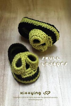 Crochet Pattern Baby Skull Booties Skull Baby Loafers Skull Preemie Socks Skull Applique Skull Baby Slippers Crochet Pattern Skull Baby Shoes 3D Skull Crochet Applique by kittying.com from mulu.us