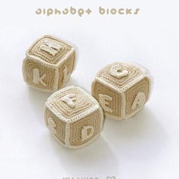 Alphabet Blocks (A to I) Crochet PATTERN, SYMBOL DIAGRAM (pdf) by kittying