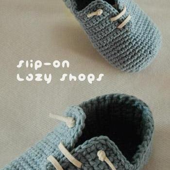 Slip-On Toddler Lazy Shoes Crochet PATTERN, PDF - Chart & Written Pattern