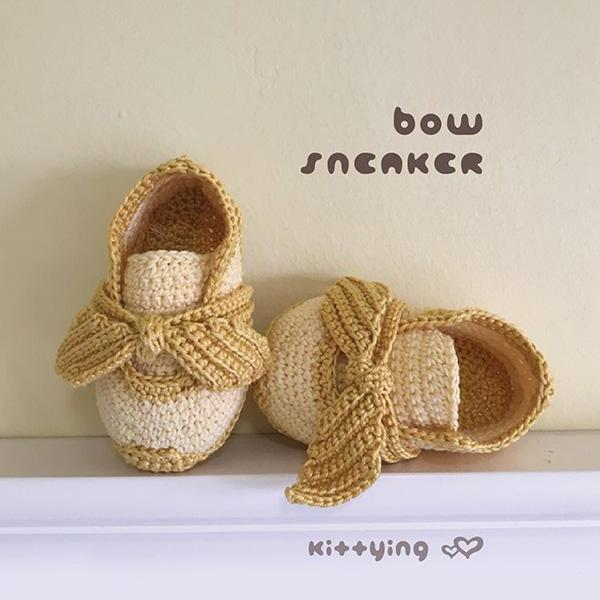Crochet Sneakers Pattern Baby Bow Sneakers Kittying Crochet Baby Shoes Crochet Booties Crochet Pattern Baby Sneakers Baby Shoes Baby Bow Sneakers Crochet Pattern Baby Sneakers Newborn Shoes Bow Booties Crochet PATTERN - Chart & Written Pattern