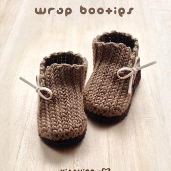 Crochet Pattern Wrap Baby Booties Preemie Boots Newborn Shoes Crochet PATTERN, PDF - Chart & Written Pattern