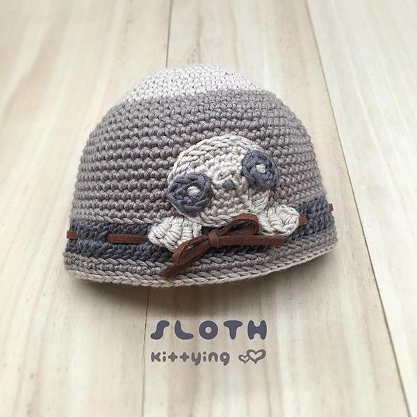 Crochet Pattern Sloth Beanie - Sloth Crochet Patterns - Sloth Beanie, Sloth Hat, Sloth Bucket, Sloth Cap, Sloth Toque, Sloth Newborn Crochet Pattern, Sloth Baby Shower