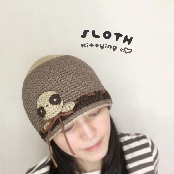 Crochet Pattern Sloth Beanie Hat - Sloth Crochet Patterns - Sloth Beanie, Sloth Hat, Sloth Toque, Sloth Headwear, Sloth Adult Crochet Pattern, Sloth Teen Crochet Pattern, Sloth Crochet Patten