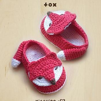 Crochet Pattern Fox Baby Booties Fox Preemie Socks Fox Applique Foxy Baby Slippers Crochet Pattern Foxy Baby Shoes