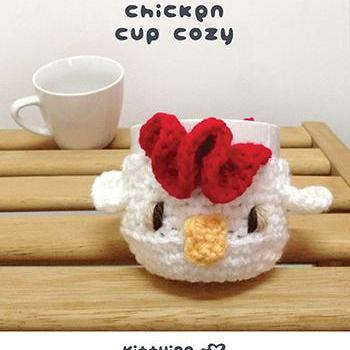 Crochet Pattern Chicken Fruit cozy Rooster Apple protector Cock Mug Sleeve Hen Cup warmer Apple cozy Chicks Cup Crochet cozy Chics Cozy by Kittying Crochet Pattern