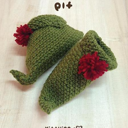 6d516fe9f76 Elf Baby Booties Crochet PATTERN For Christmas Holiday Thanksgiving By  Kittying Elf Booties Pattern on Luulla